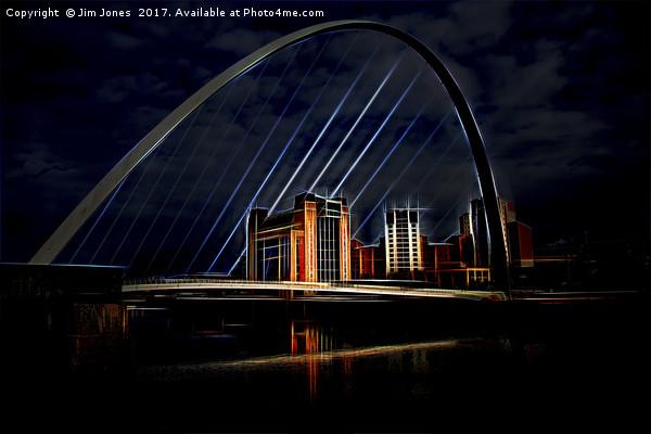 Artistic Tyne Canvas print by Jim Jones