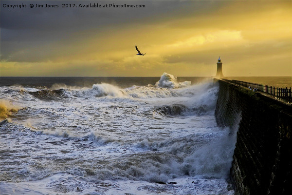 Stormy weather at Tynemouth Canvas print by Jim Jones