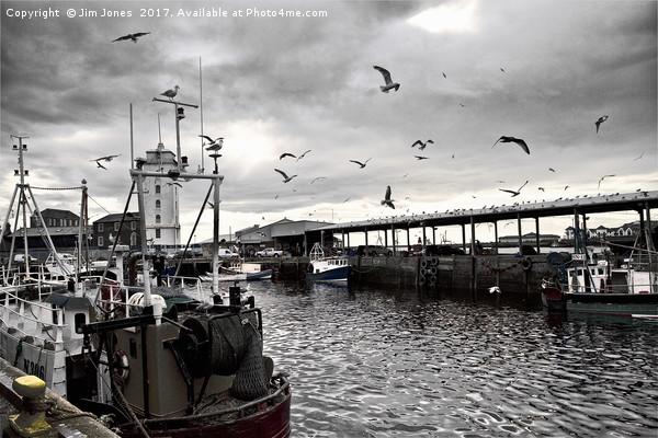 North Shields Fish Quay  Canvas Print by Jim Jones