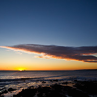 Buy canvas prints of Sunrise over Whitley Bay by Jim Jones
