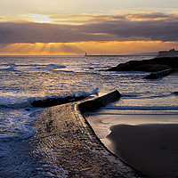 Buy canvas prints of New day on Cullercoats Bay by Jim Jones