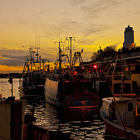 Buy canvas prints of Dusk over the Fish Quay by Jim Jones