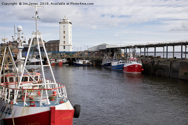 North Shields Fish Quay Canvas Print by Jim Jones