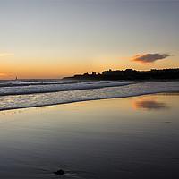 Buy canvas prints of December daybreak over Tynemouth Long Sands by Jim Jones