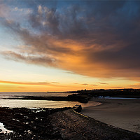 Buy canvas prints of Daybreak over Cullercoats Bay by Jim Jones