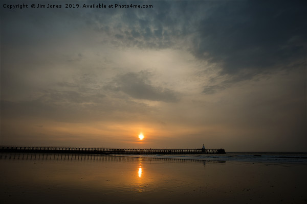 Sunrise over the North Sea at Blyth Canvas print by Jim Jones