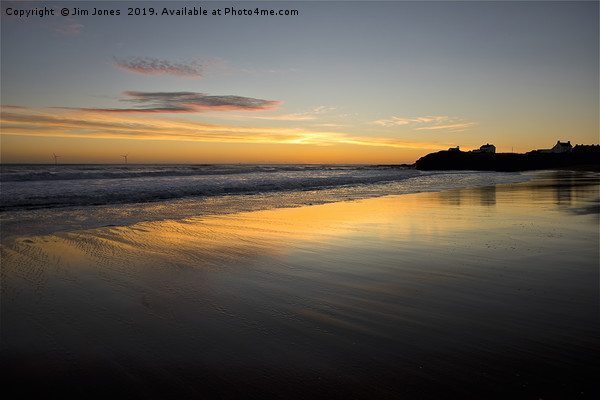 Just before sunrise in Northumberland Canvas print by Jim Jones
