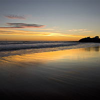 Buy canvas prints of Just before sunrise in Northumberland by Jim Jones