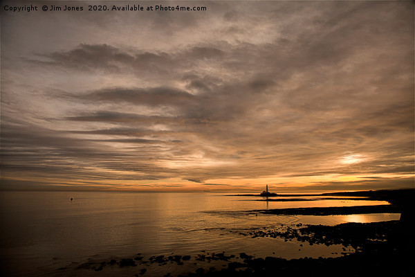Another Golden Dawn at St Mary's Island Canvas print by Jim Jones