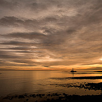 Buy canvas prints of Another Golden Dawn at St Mary's Island by Jim Jones
