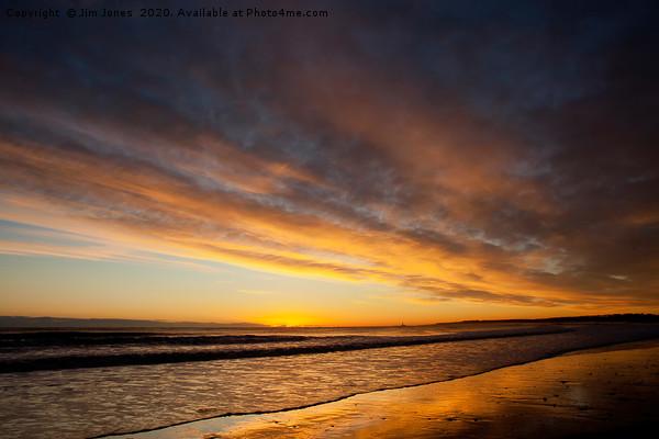 December sunrise from the beach at Blyth Canvas print by Jim Jones
