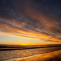 Buy canvas prints of December sunrise from the beach at Blyth by Jim Jones