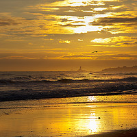 Buy canvas prints of Golden Sunrise over the North Sea by Jim Jones