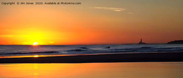 North Sea sunrise panorama Framed Mounted Print by Jim Jones