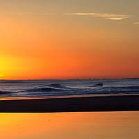 Buy canvas prints of North Sea sunrise panorama by Jim Jones