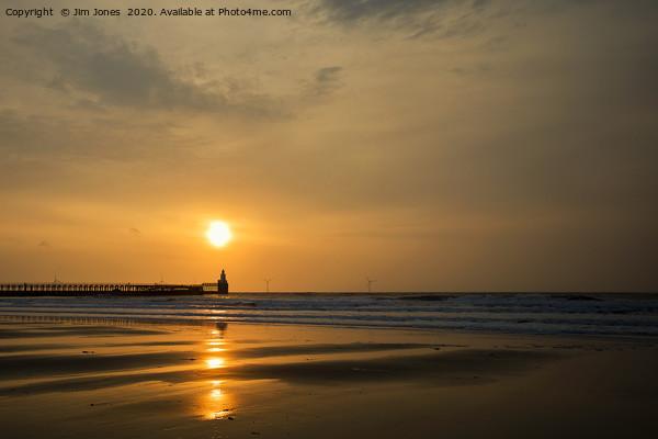 Sunrise over the North Sea at Blyth Acrylic by Jim Jones
