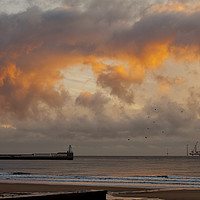 Buy canvas prints of Offshore work just after sunrise by Jim Jones