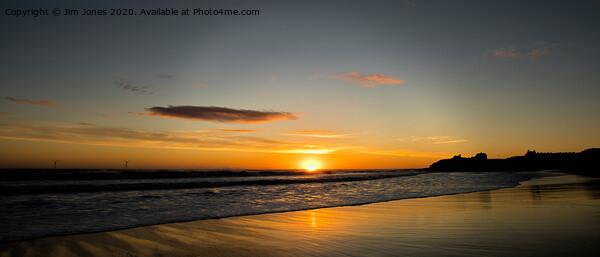 Super September Seaton Sluice Sunrise Panorama Acrylic by Jim Jones