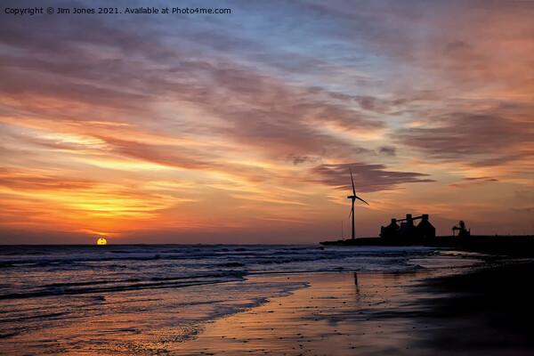 January daybreak on the beach. Canvas Print by Jim Jones