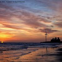 Buy canvas prints of January daybreak on the beach. by Jim Jones