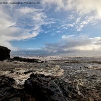 Buy canvas prints of Collywell Bay storm  by Jim Jones
