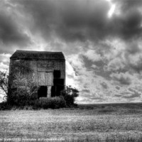 Buy canvas prints of Derelict Barn by Kim Slater