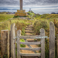 Buy canvas prints of Gate to Llanddwyn Island by Adrian Evans