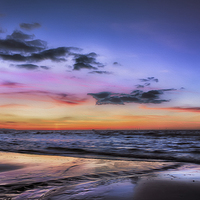Buy canvas prints of Sunset Seascape by Adrian Evans
