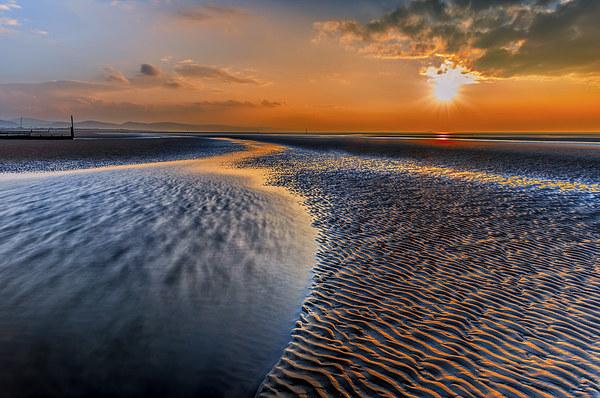Seashore Sunset Canvas print by Adrian Evans