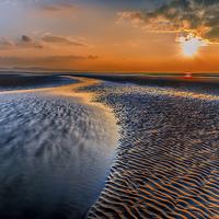 Buy canvas prints of Seashore Sunset by Adrian Evans
