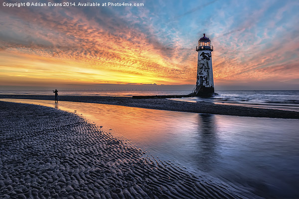 The Abandoned Talacre Lighthouse  Acrylic by Adrian Evans