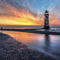 Buy canvas prints of The Abandoned Talacre Lighthouse  by Adrian Evans