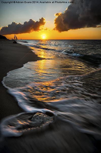 Boracay Sunset Canvas print by Adrian Evans
