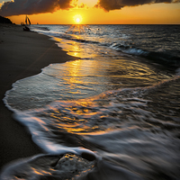 Buy canvas prints of Boracay Sunset by Adrian Evans
