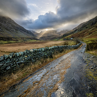 Buy canvas prints of Valley Sunlight by Adrian Evans