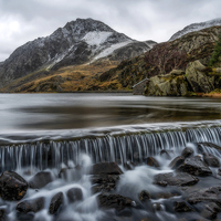 Buy canvas prints of Ogwen Weir by Adrian Evans