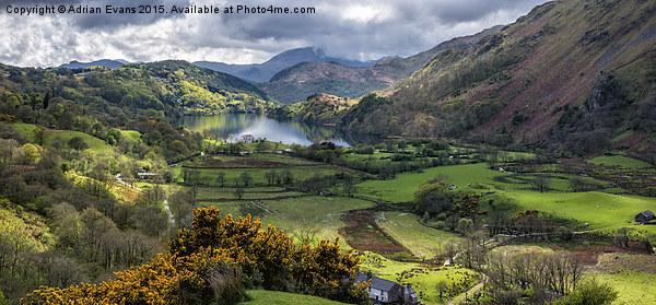 Nant Gwynant Valley Acrylic by Adrian Evans