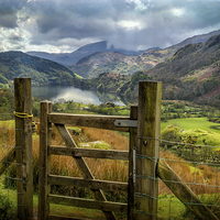 Buy canvas prints of Valley Gate Nant Gwynant Wales by Adrian Evans