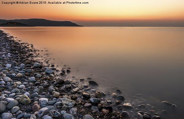 Ocean Stones Deganwy Wales Acrylic by Adrian Evans