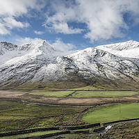 Buy canvas prints of Nant Ffrancon Winter by Adrian Evans