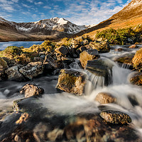 Buy canvas prints of Glyder Fawr Mountains by Adrian Evans