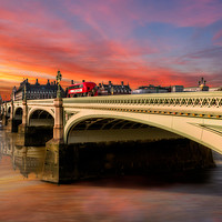 Buy canvas prints of London City Sunset by Adrian Evans