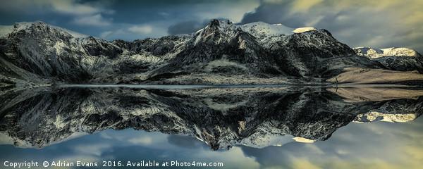 Midnight Lake Canvas print by Adrian Evans