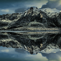 Buy canvas prints of Midnight Lake by Adrian Evans