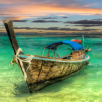 Buy canvas prints of Longboat Sunset by Adrian Evans