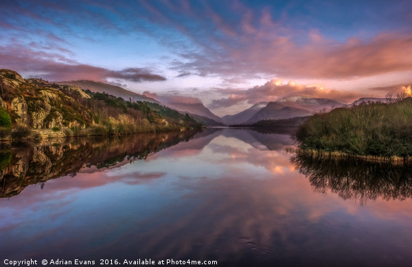 Snowdon Sunset Canvas print by Adrian Evans