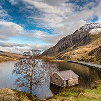 Buy canvas prints of Winter At Llyn Ogwen by Adrian Evans
