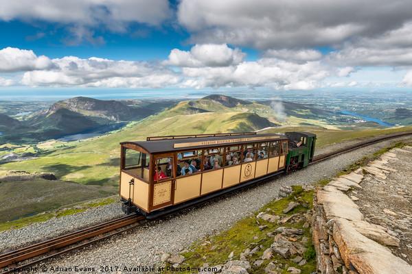Mountain Train Canvas print by Adrian Evans