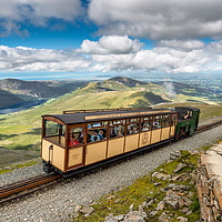 Buy canvas prints of Mountain Train by Adrian Evans