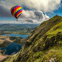 Buy canvas prints of Snowdon Hot Air Balloon by Adrian Evans